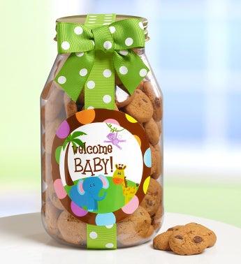 Welcome Baby Chocolate Chip Cookie Jar