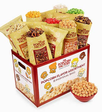 The Popcorn Factory® 18-Pack Popcorn Sampler