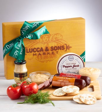 Fathers Day Lucca  Sons Sausage  Cheese Box