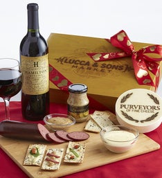 Valentine Sausage & Cheese Box with Cabernet Wine