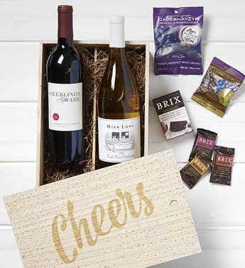 Cheers Wine  Chocolates Crate