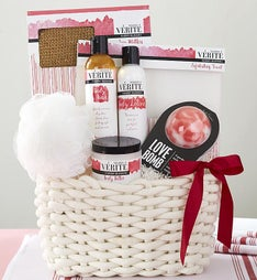 Relaxing Cherry Blossom Love Bomb Spa Basket