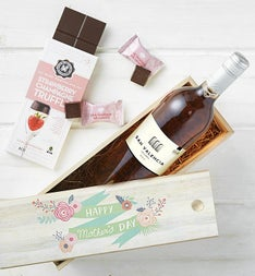 Mothers Day Rosé Wine and Chocolate Crate
