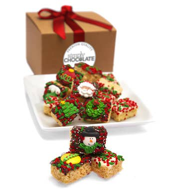 Merry Christmas Hand Dipped Crispy Rice Bites
