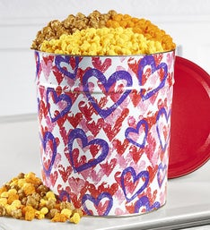 The Popcorn Factory Forever Hearts 3 Way Tin 3.5G