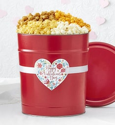 Popcorn Factory Happy Valentines Day 3 Flavor Tin