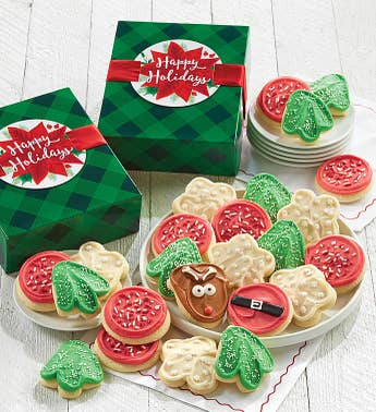 Cheryls Holiday Cut-Out Cookies Gift Box