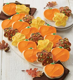 Cheryls Pumpkin  Leaf Frosted Cookies  24 ea