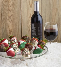 Christmas Dipped Strawberries  Cabernet Sauvignon