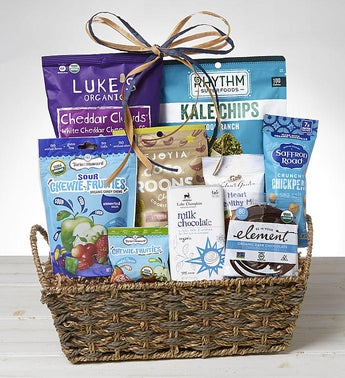 Snack Time Organic Gift Basket
