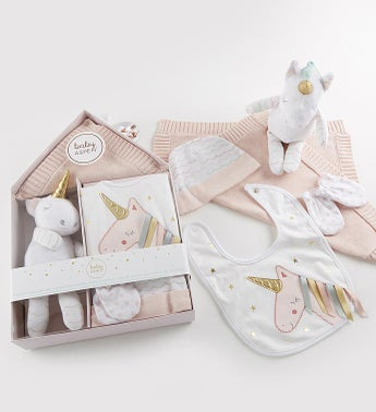 Simply Enchanted Unicorn 5 pc Baby Gift Set
