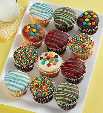Birthday Belgian Chocolate Dipped Cupcakes