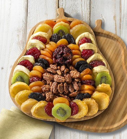 Plentiful Pear Server with Fruits & Nuts
