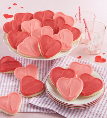 Cheryls Frosted Heart Cut-Out Cookies