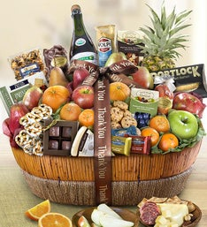 Thank You Fruit  Sweets Gift Basket