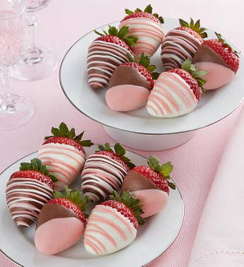Pretty In Pink Chocolate Covered Strawberries