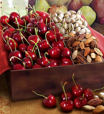 Sweet Bing Cherry Pistachio  Mixed Nut Gift Box