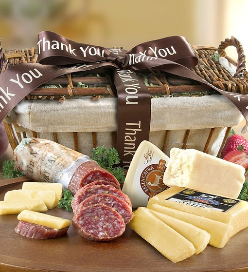 Thank You California-made Meat & Cheese Basket