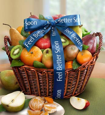 Premier Fruit Get Well Gift Basket