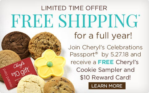 Free cookies and Free shipping
