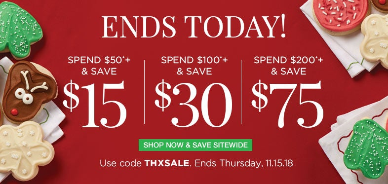 Save up to $75 Sitewide