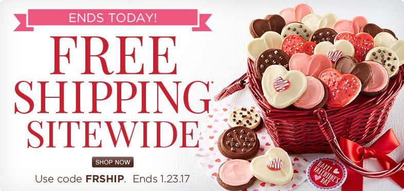 Free shipping sitewide ends today!