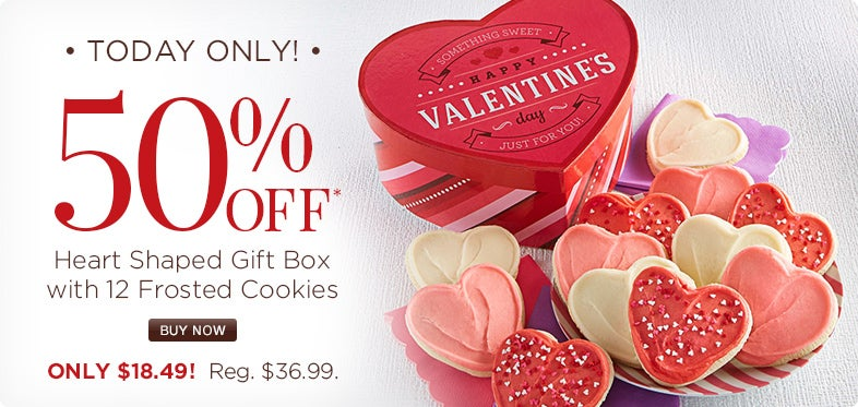 Today only: 50% off Heart Shaped Gift Box