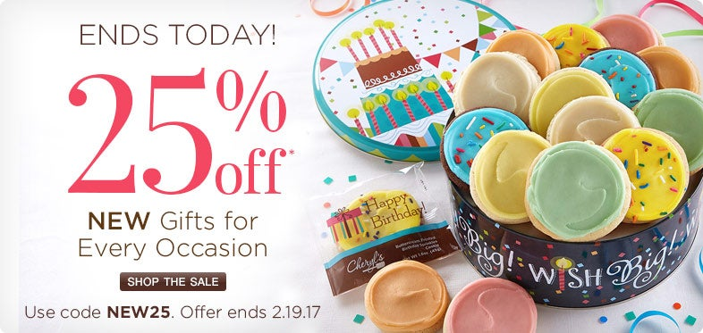 25% off new gifts for every occasion.
