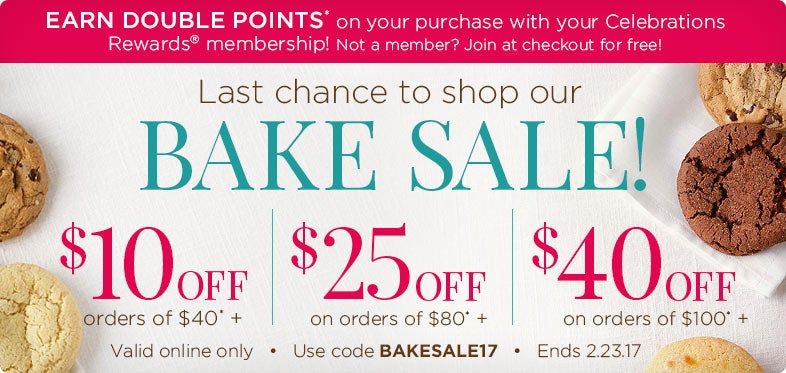 Save up to $40 on our Bake Sale!