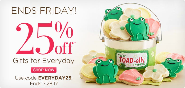 Save 25% off Gifts for Everyday