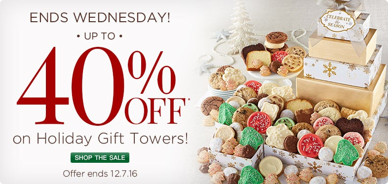 Save up to 40% on our Holiday Tower Collection