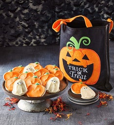 Buttercream Frosted Halloween Cut-out Cookies with FREE Tote