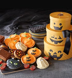Halloween Pumpkin Gift Tower
