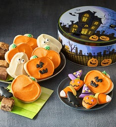 Haunted House Gift Tin - Cookies & Snack Size Brownies