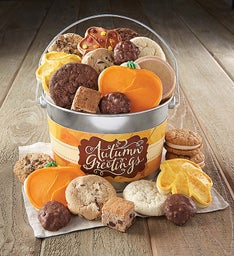 Autumn Greetings Treats Pail