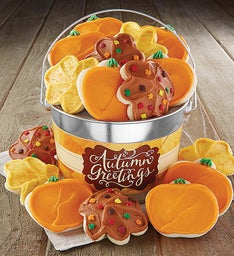 Autumn Greetings Cookie Pail