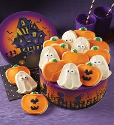 Haunted House Halloween Gift Tin - Cut-outs