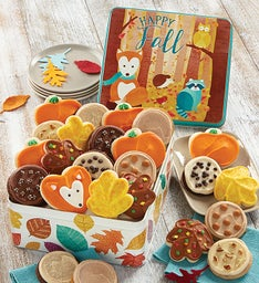 Autumn Greetings Gift Tin-Frosted Assortment