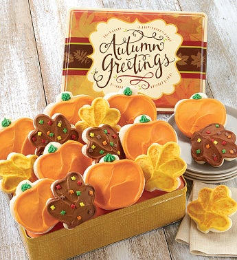 Autumn Gift Tin with Buttercream Frosted Cut-outs