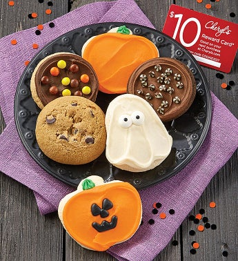 Cheryl's 6-Piece Halloween Cookie Sampler + $10 Reward Card