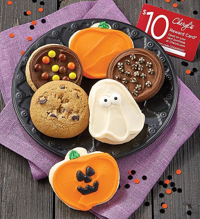 Cheryl's 6-Piece Halloween Cookie Sampler + $10 Reward Card