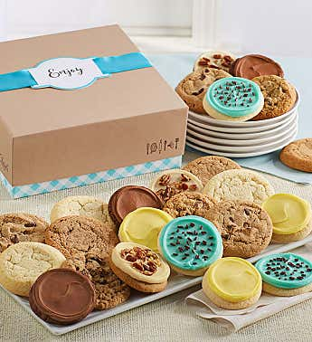 Cheryls Cookie Gift Boxes with Message Tag - 36 Cookies