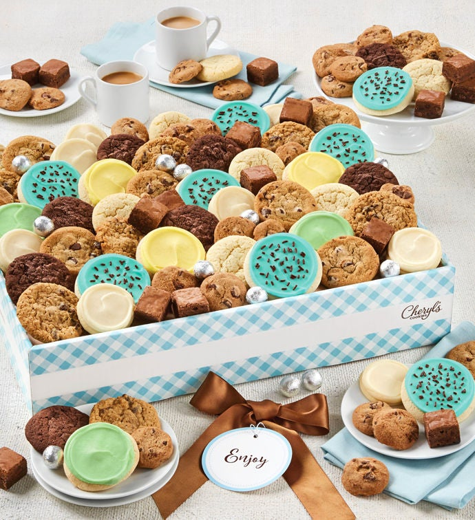 Cheryls Dessert Tray Gift Box with Message tag Large