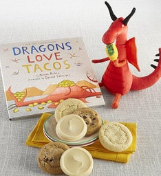 Dragons Love Tacos Book and Plush Cookie Gift
