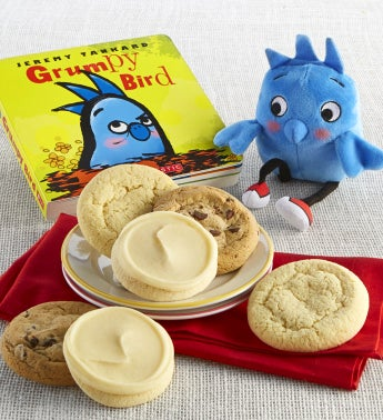 Grumpy Bird Book and Plush Cookie Gift