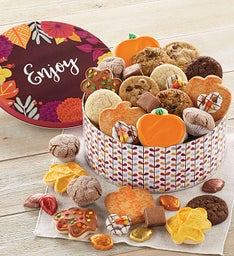 Fall Gift Tin  Treats Assortment