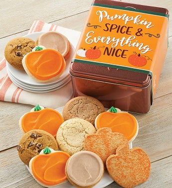 Pumpkin Spice and Everything Nice Treats Gift Tin