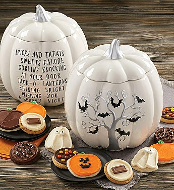 Collectors Edition Halloween Bats Pumpkin Jar