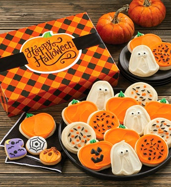 Halloween Gift Boxes - Buttercream Frosted Assortment 26 Cookies by Cheryl's