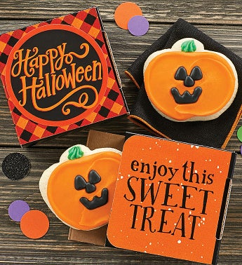 Happy Halloween Jack O39 Lantern Cookie Card